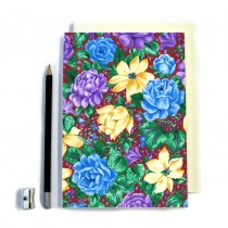 Purple Floral Stitched Notebook