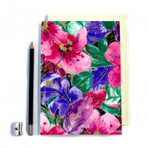 Large Pink Floral Stitched Notebook