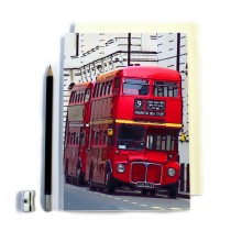 London Bus Stitched Notebook