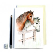 Horses Sketch Stitched Notebook