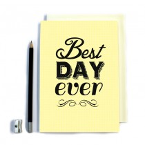 Best Day Ever' Stitched Notebook