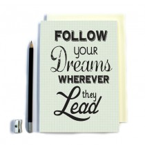Follow Your Dreams' Stitched Notebook