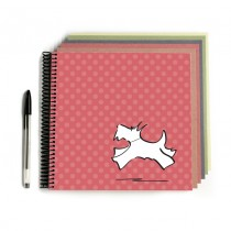 Scottie Dog Scrapbook Pink