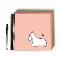 Scottie Dog Scrapbook Peach