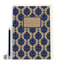 Navy Patterned Notbook