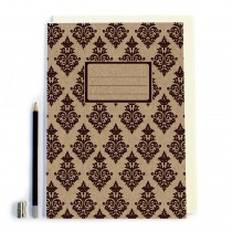 Black Patterned Notebook