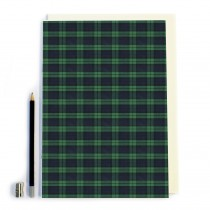 Blue/green Tartan Notebook
