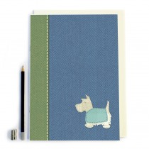 Blue Scottie Dog Notebook