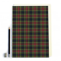 Red/green/yellow Tartan Design Notebook