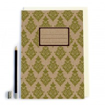 Green Pattern Notebook