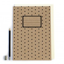 Black Polka Dot Notebook