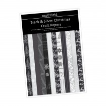 Black & Silver Xmas Craft  Pack