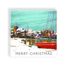 Sq Xmas Cards In Acetate Box