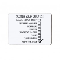 Check List Small Placemat
