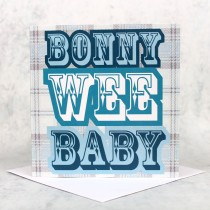 Bonny Baby Blue Greeting Card