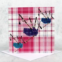 Tartan Bagpipes Greeting Card