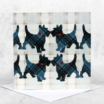 Tartan Scottie Dog Greeting Card