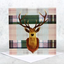 Tartan Stag Greeting Card