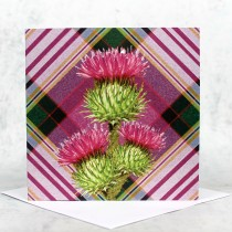 Tartan Thistle Greeting Card