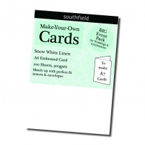 A6 White Card Linen New 100s