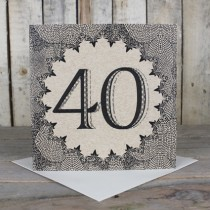 40th Eco Birthday Card