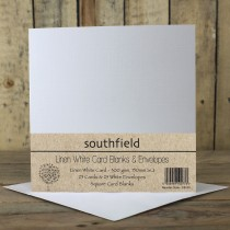 Linen White Card Blanks
