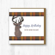 Stag Birthday Card