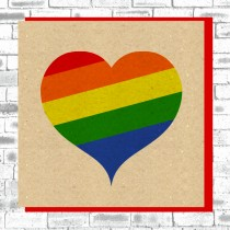 Eco True Love Card-Rainbow Heart