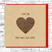 Eco True Love Card-Coffee Beans