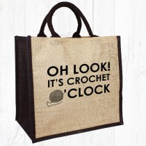 Crochet O'Clock Jute Bag