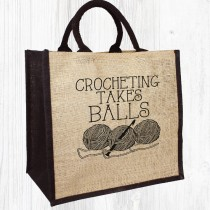 Balls Crocheting Jute Bag