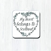 My Heart Belongs Classic Coaster