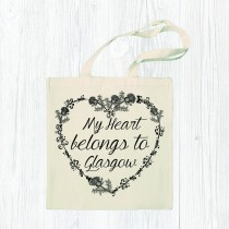 My Heart Belongs Cotton Shopper+Tag