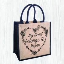 Heart Belongs Juco Bag +Tag