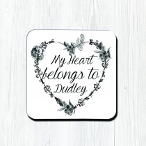 Heart Belongs Classic Coaster