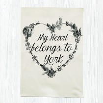 Heart Belongs Tea Towel +Tag