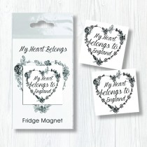 Heart Belongs Bagged Magnet