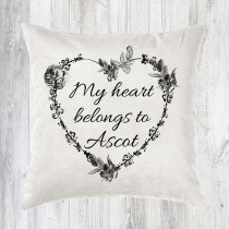 Heart Belongs Cushion + Tag