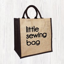 Little Sewing Jute Bag