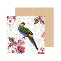 Watercolour Parrot Greeting Card