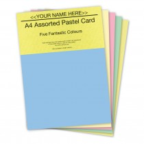 P -Assorted Pastel Card 160gsm