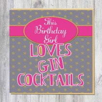 Greeting Card-Gin Coacktails