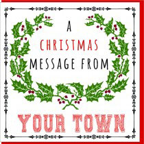 Personalise-A Xmas Message Card