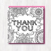 Colour-In Thank you card