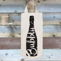 Cotton Bottle Bag-Bubbly