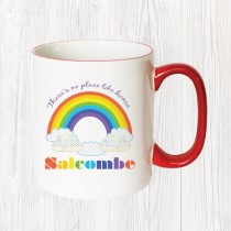 Rainbow Red Handle Mug