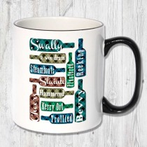 Swally Black handled mug