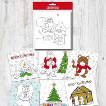 Colour-In Xmas Cards