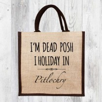 I Holiday In...Jute Shopper+Tag
