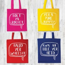 Coloured Bags with White Ink